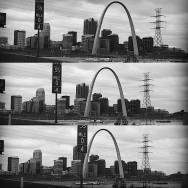 Arch multi level photo Black and white