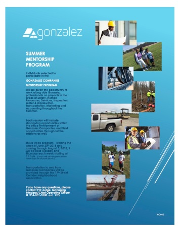Gonzalez Companies Mentorship Program Flyer 18